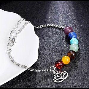 Jewelry - Energy Chakra Lotus Yoga Ankle/Wrist Bracelet NWT